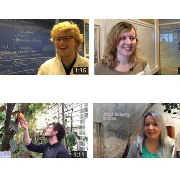 bild från fyra studentfilmer